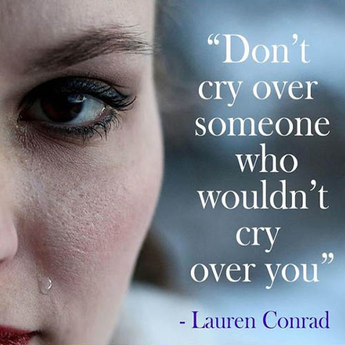 don't Cry Over someone