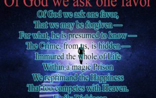 Of God we ask one favor
