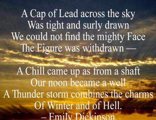 A Cap of Lead across the Sky