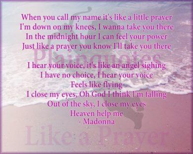 Madonna like a prayer picture