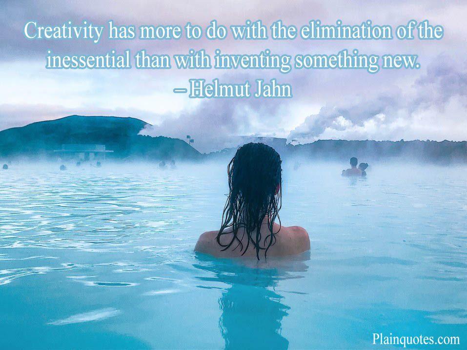 Creativity has more to do