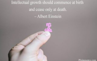 Intellectual Growth Should
