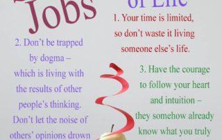 Steve Jobs Three Rules Of Life