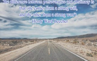 The difference between perseverance and obstinacy
