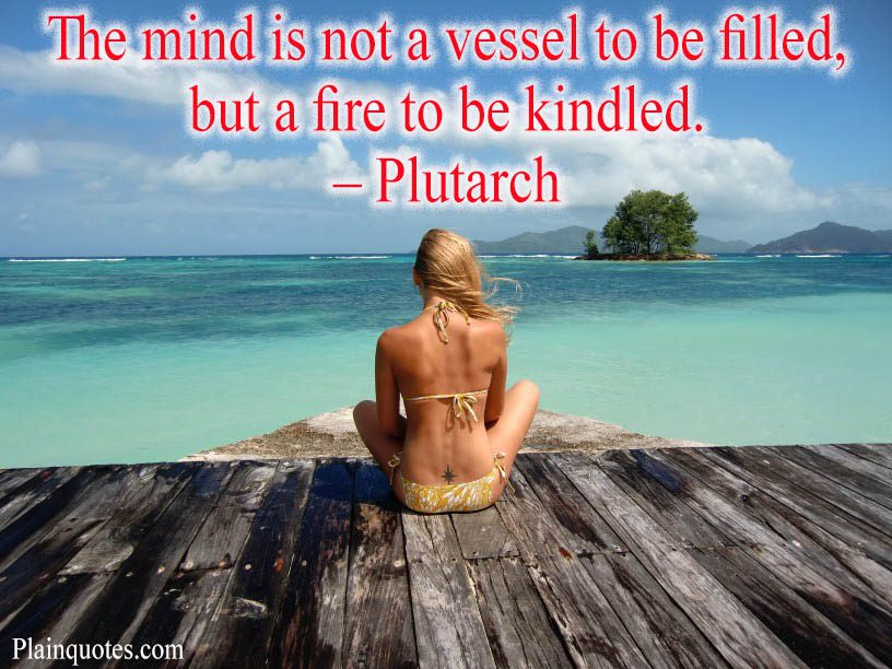 The mind is not a vessel