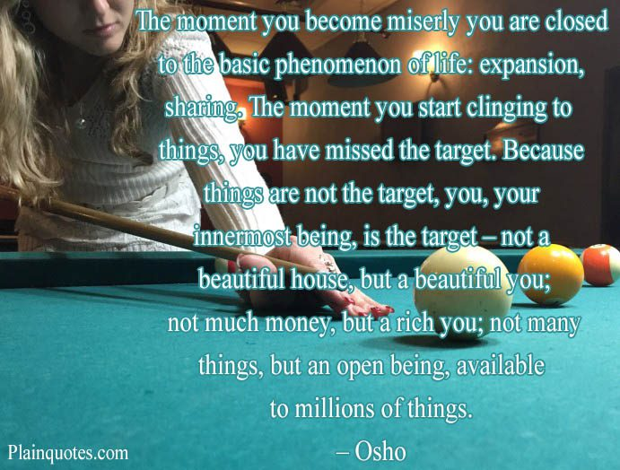 The Moment You Become Miserly