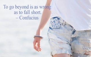 To go Beyond Is As Wrong