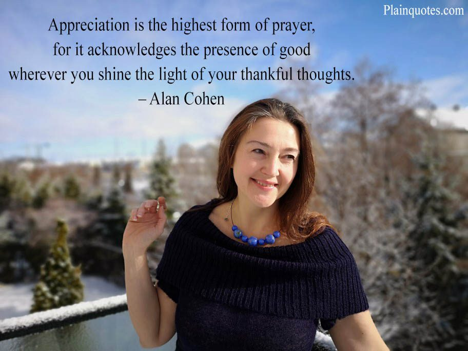 appreciation is the highest