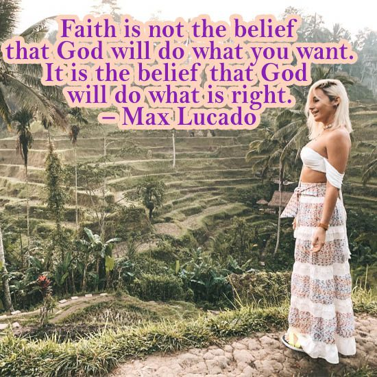 faith is not the belief