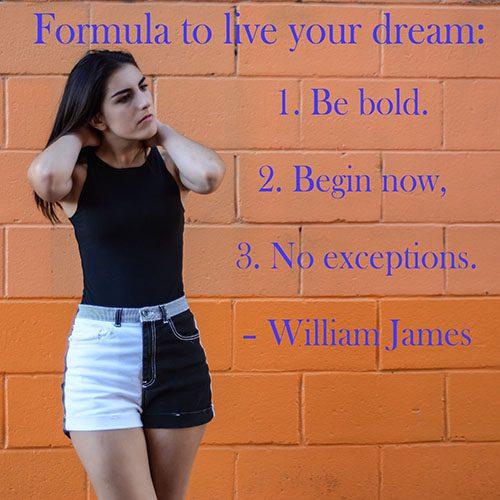 formula To Live Your Dream