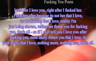 fucking You Poem