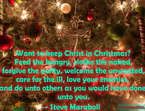 Want to keep Christ in Christmas?