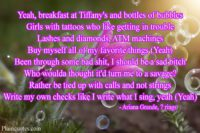 7 rings song quote