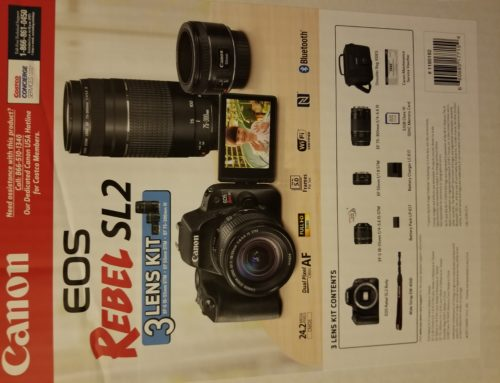 unboxing Canon EOS Rebel SL2 with 3 lens bundle from Costco