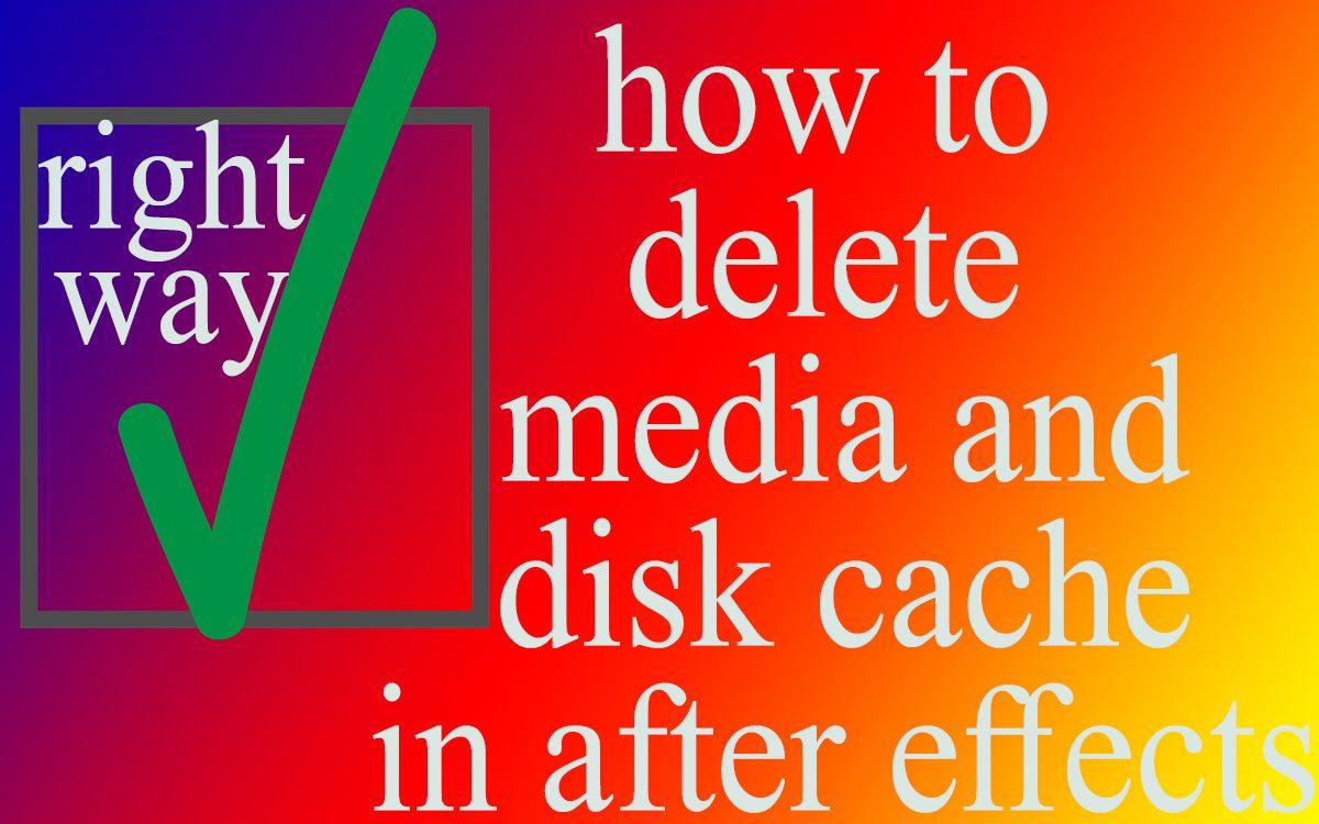 delete Media And Disk Cache