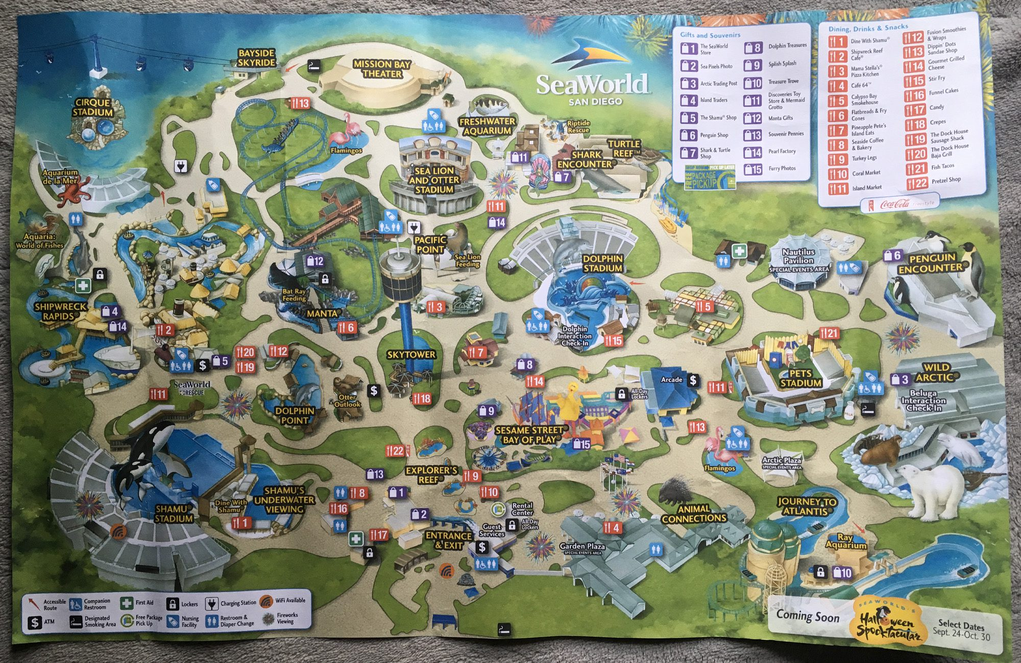 2016 SeaWorld San Diego Map image