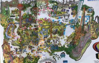 2003 Six Flags Map Picture california