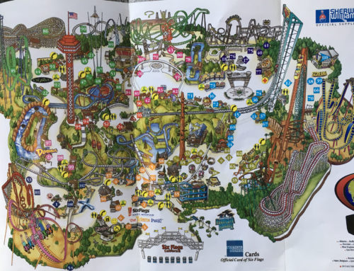 2003 Six Flags Magic Mountain theme park map
