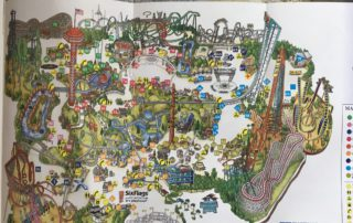 2005 six flags LA map image