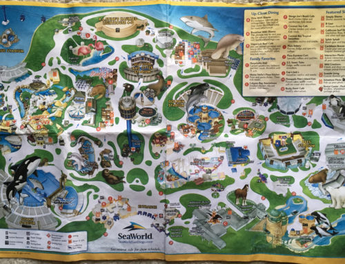 2007 SeaWorld San Diego park map