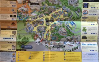 2012 Universal Studios Hollywood map