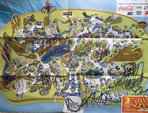 2014 Canada's Wonderland Theme Park Map