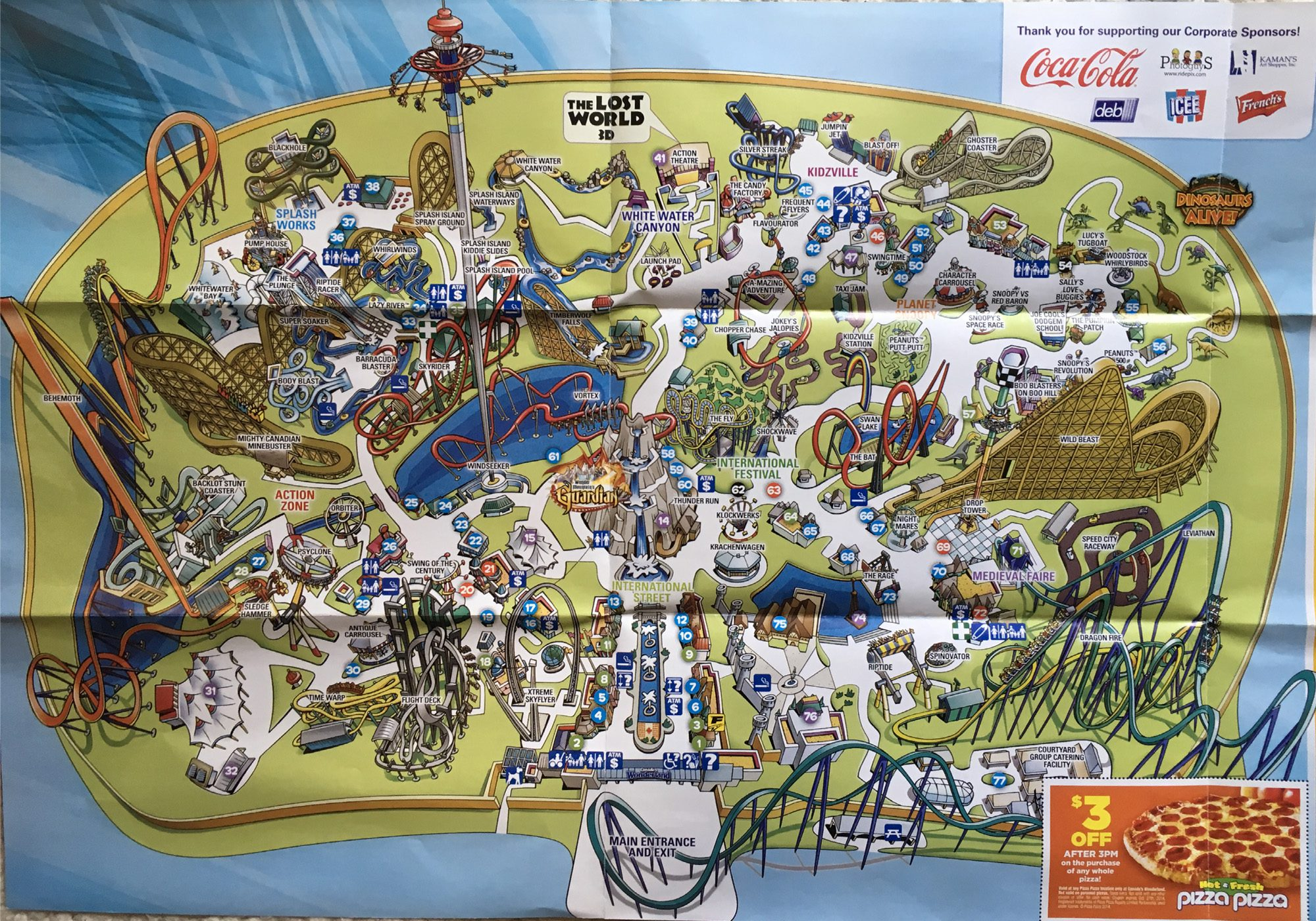 2014 Canada S Wonderland Theme Park Map