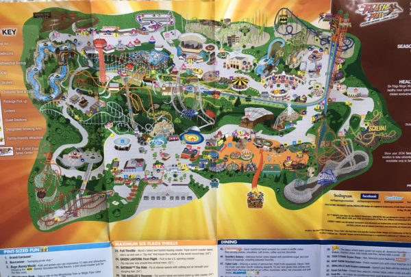2014 Six Flags Map