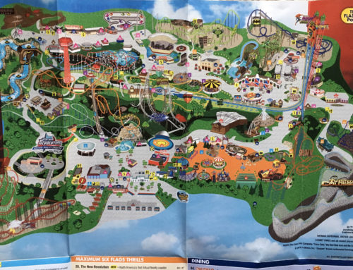 2016 Six Flags theme park map