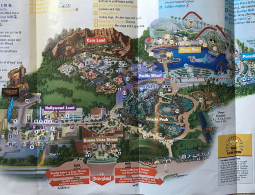 2019 Disney California Adventure theme park map