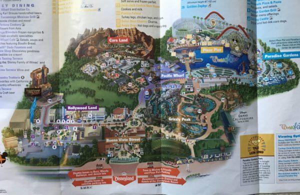 2019 Disney California Adventure map