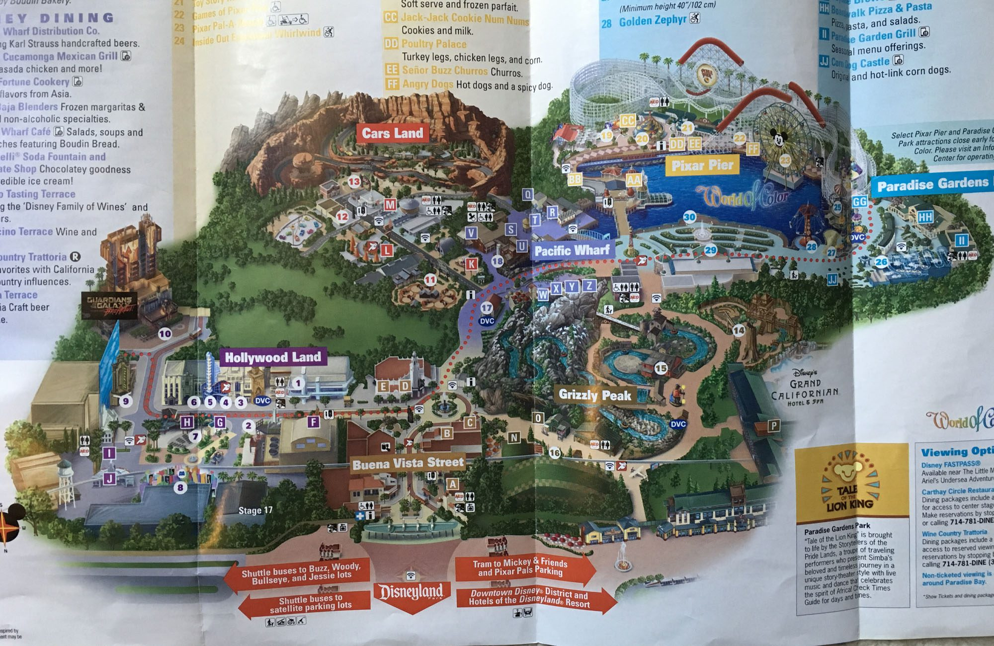2019 Disney California Adventure map