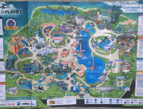 2016 SeaWorld San Diego Map