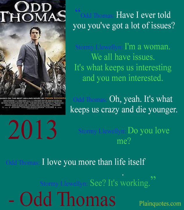 odd Thomas quote picture