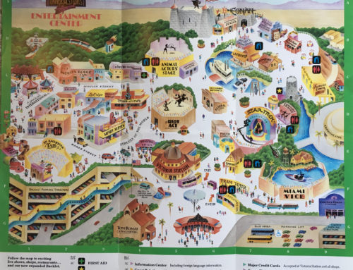 2012 Universal Studios Hollywood theme park map
