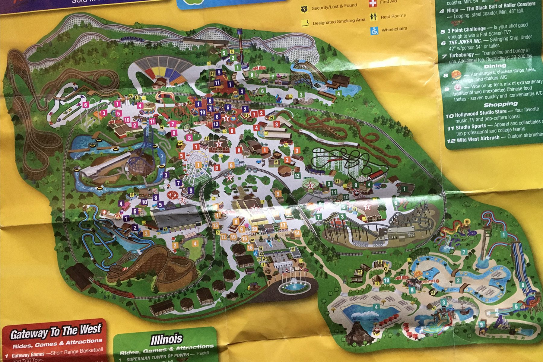 2010 6 flags st. louis map