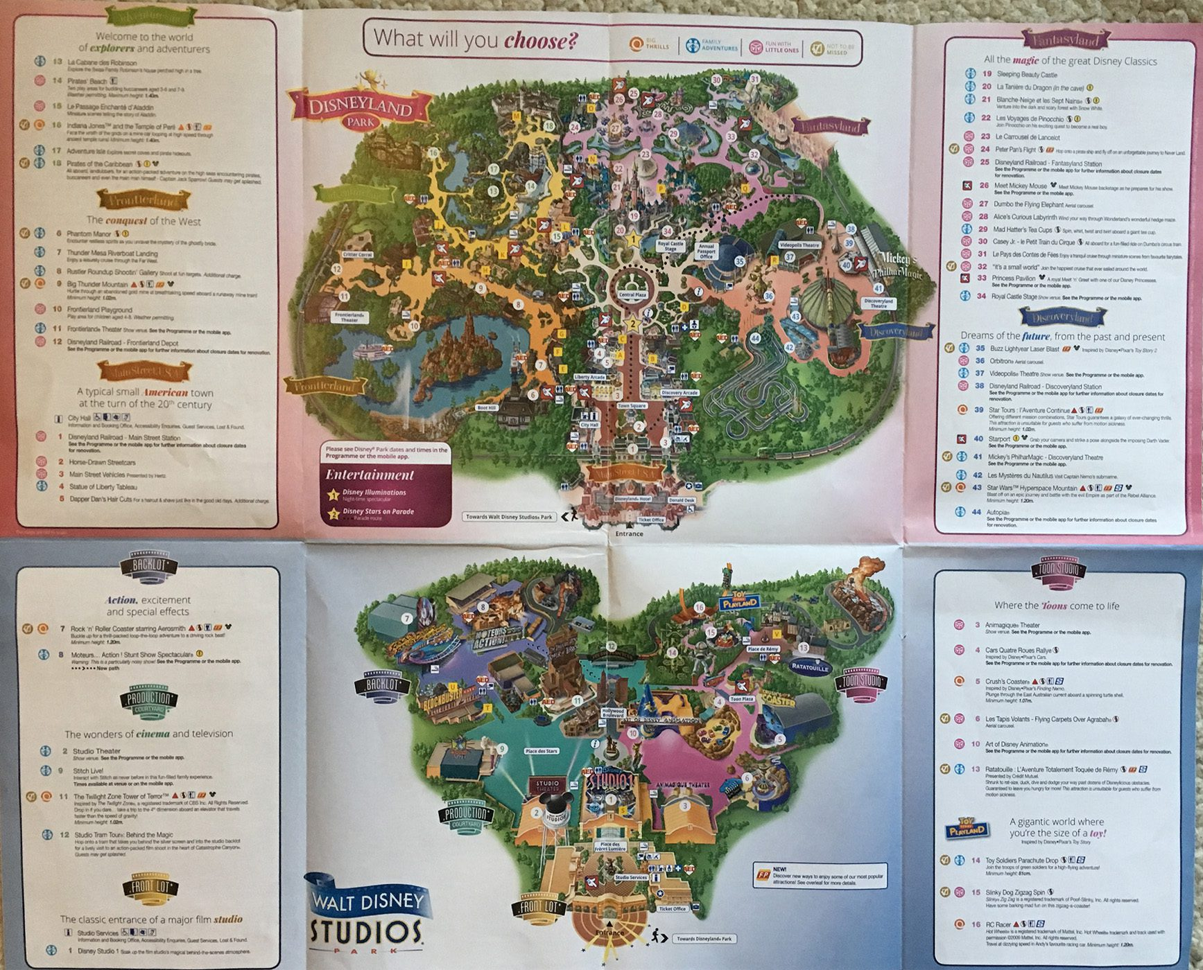 2019 Disneyland Paris Map