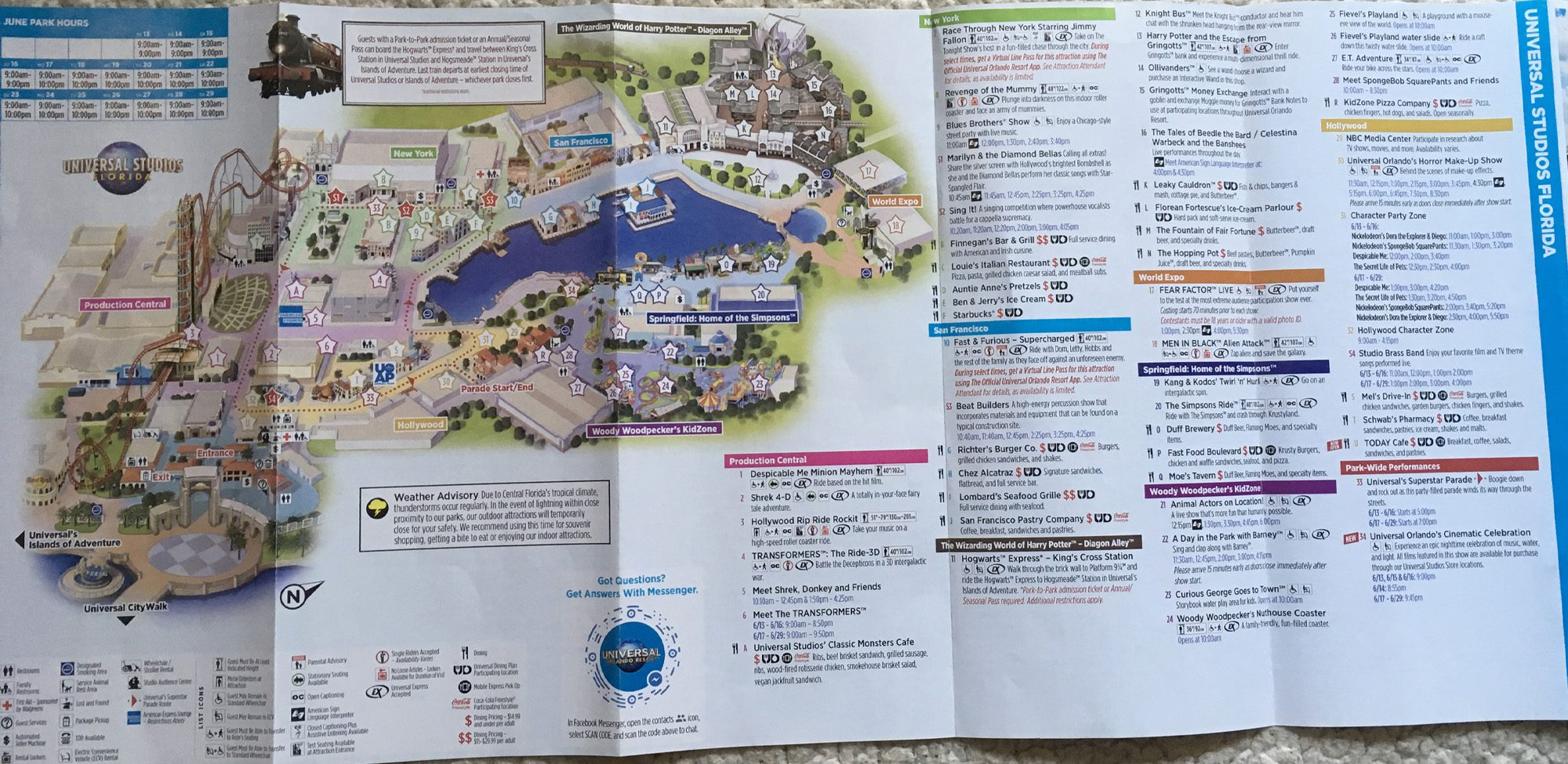 2019 Universal Orlando Map