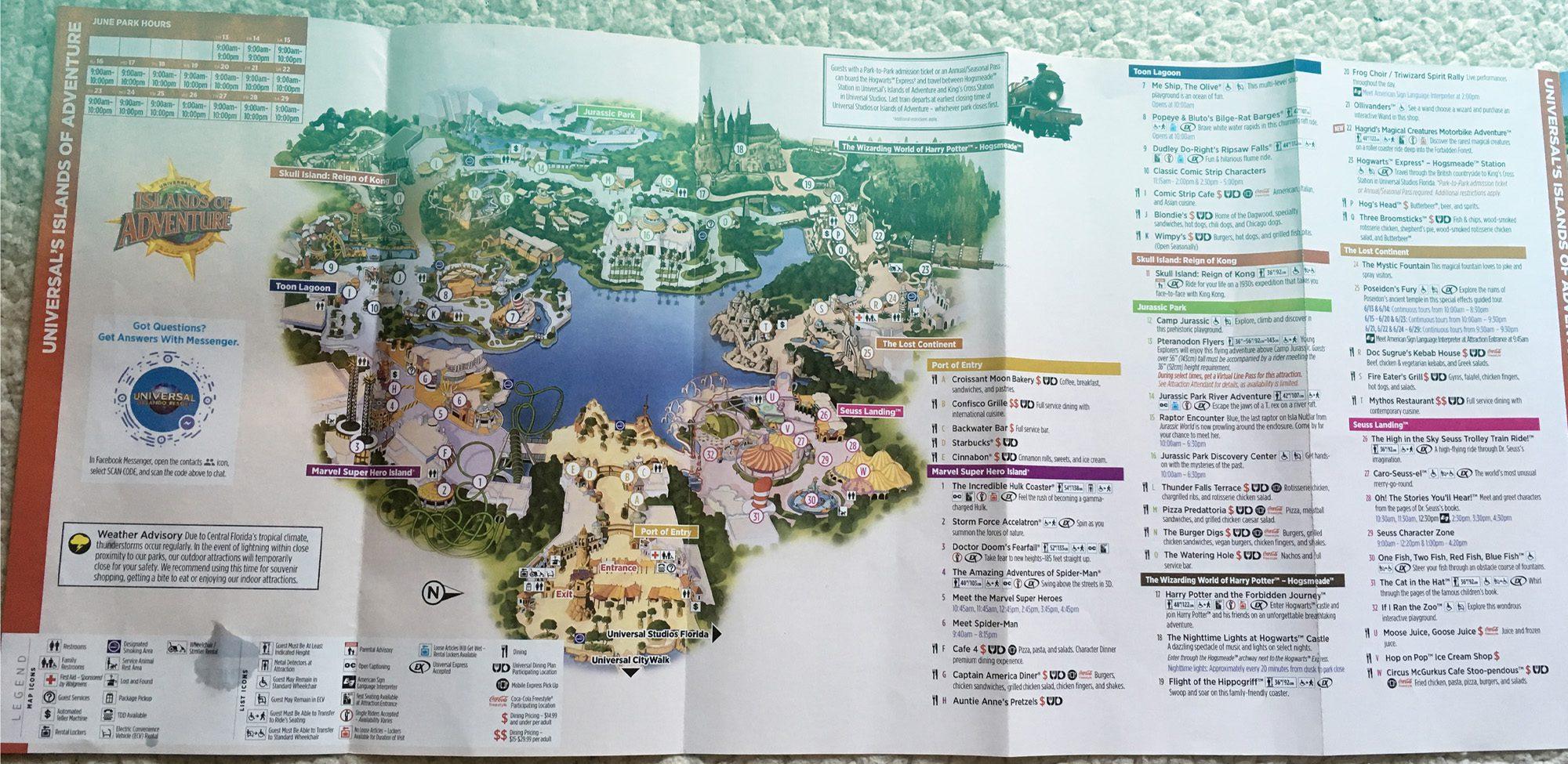 2019 islands of adventure map orlando