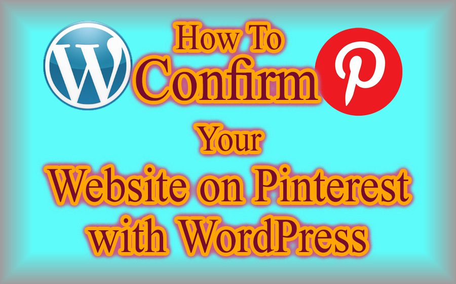 confirm website on Pinterest