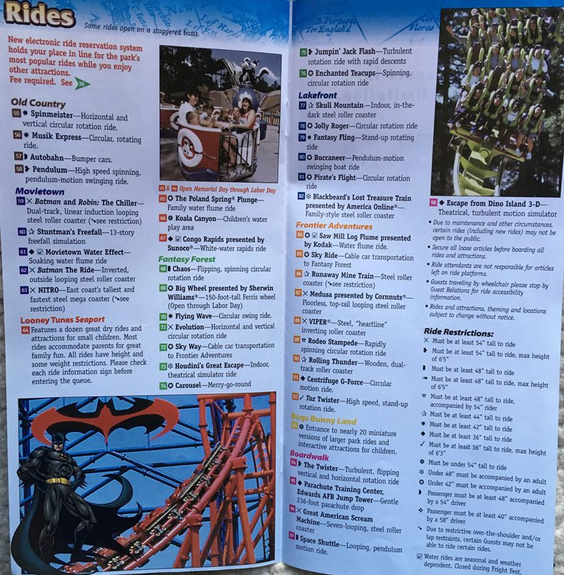 2002 Six Flags New Jersey Map 1