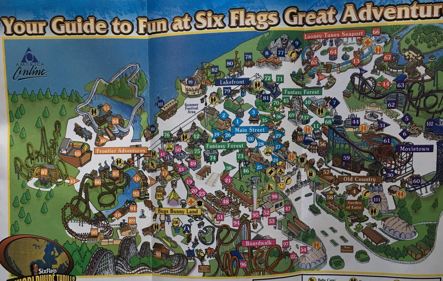 2002 Six Flags New Jersey Map 2