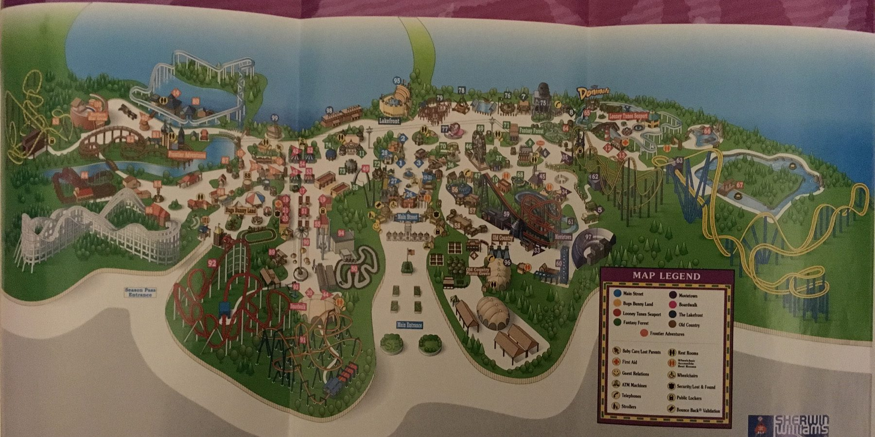 2004 Six Flags New Jersey Map 1