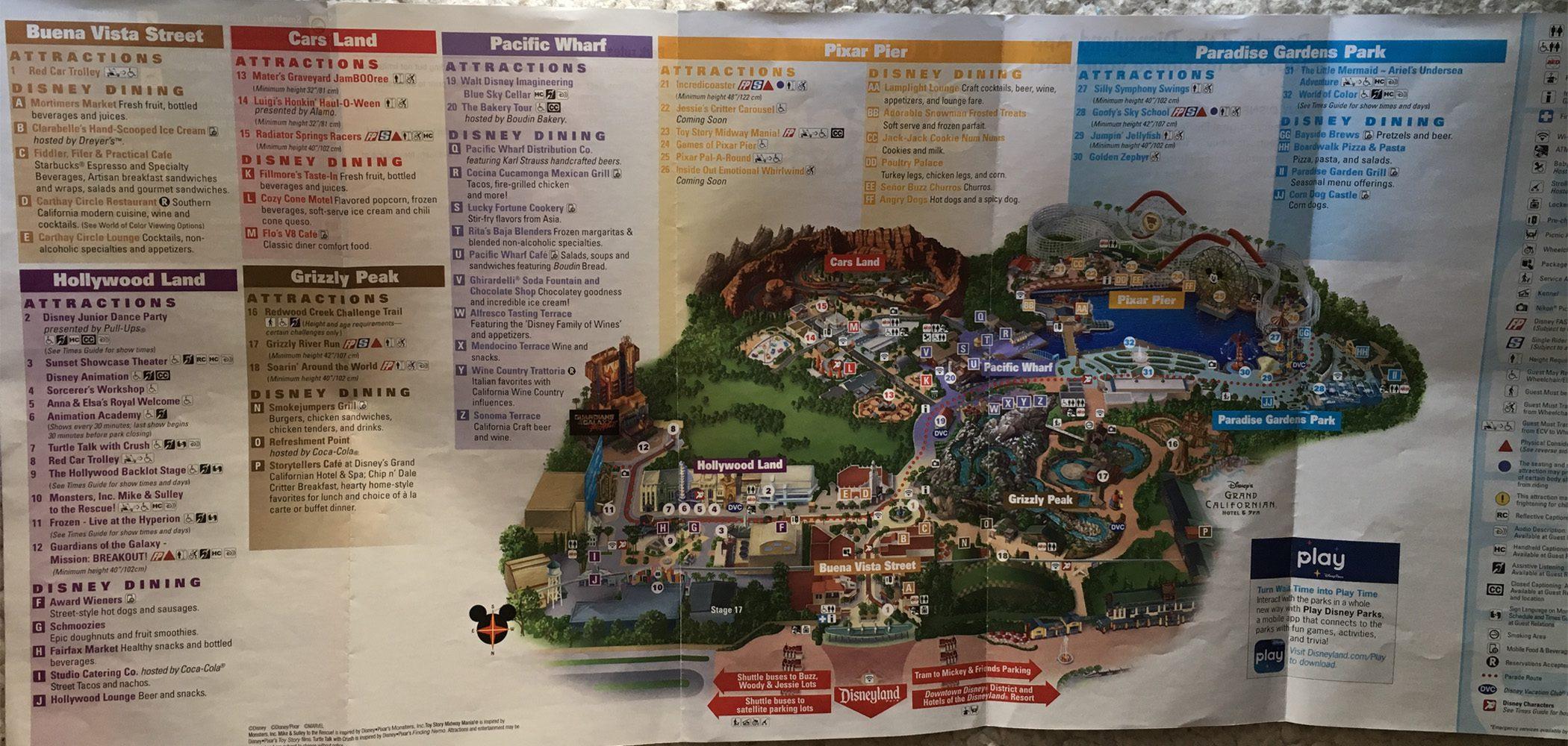 2018 California Adventure Halloween Town Map