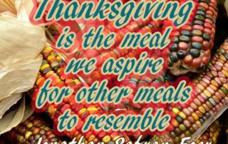 Thanksgiving Is The Meal We Aspire