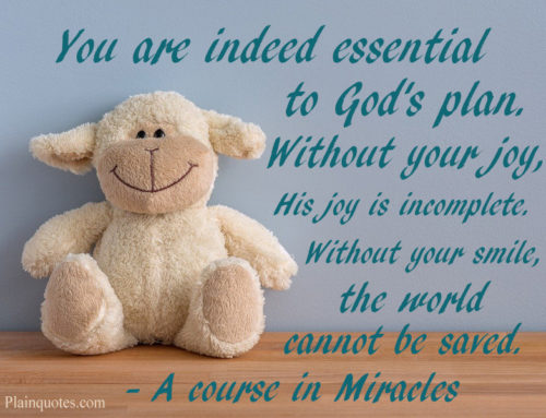 You are indeed essential to