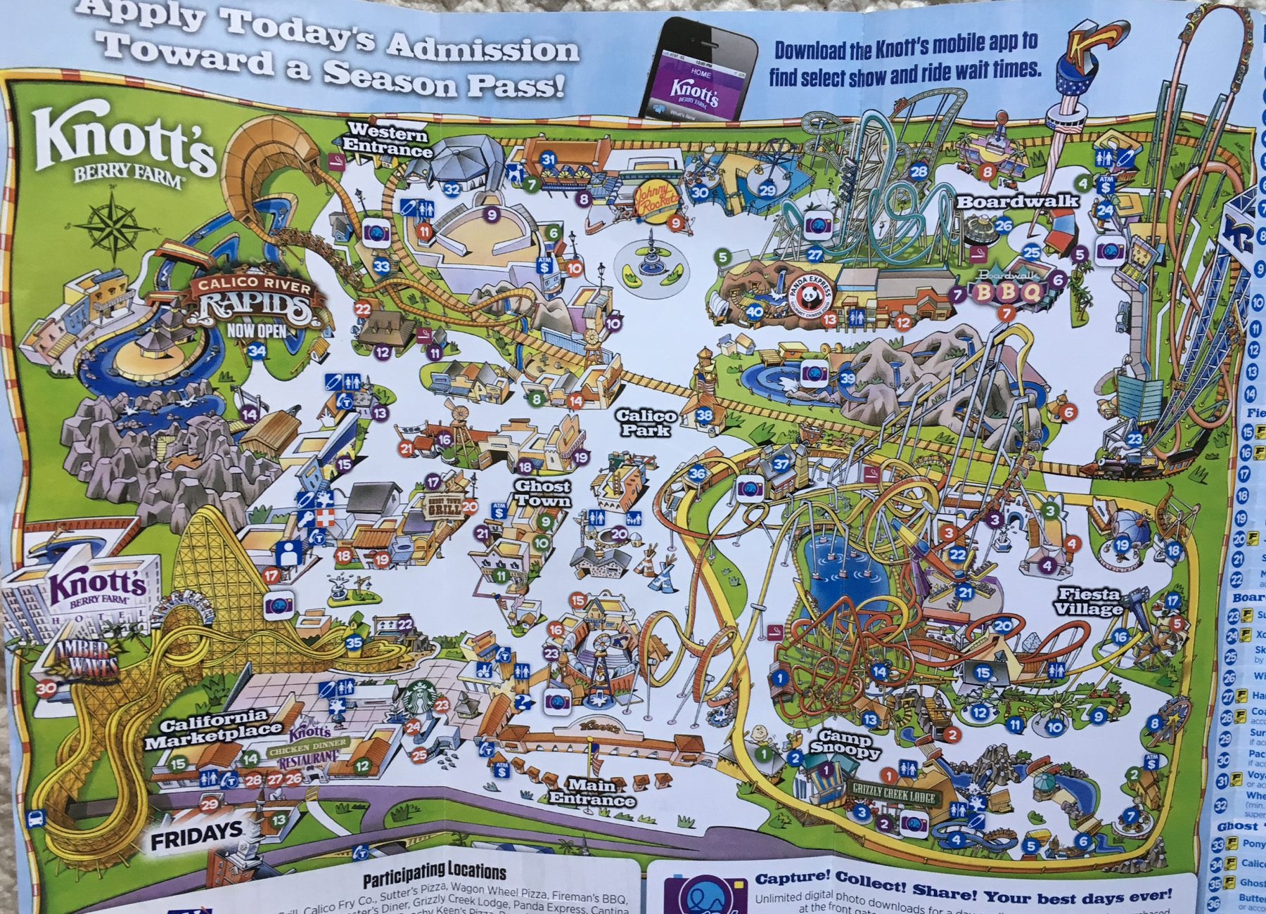 2019 Knotts Merry Farm Map Image
