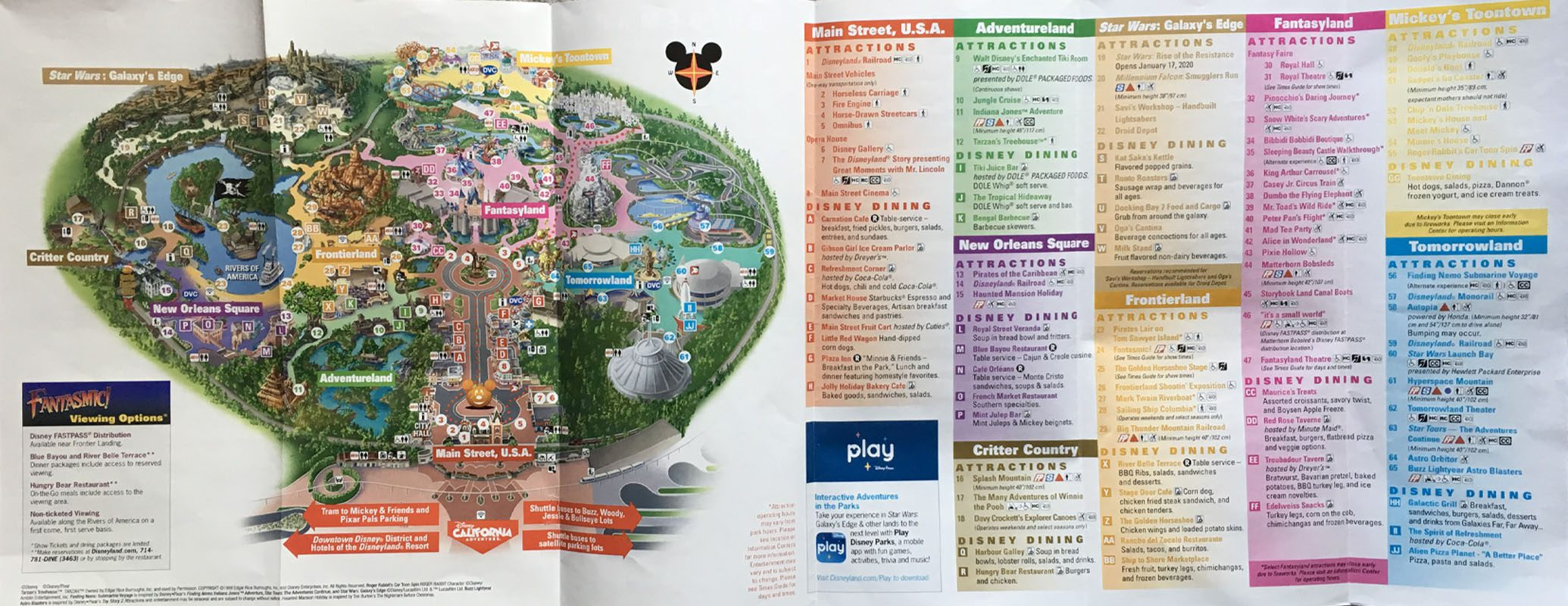 Disneyland Halloween Time Food Map 2020 2019 Halloween Time Disneyland Park Map and Food Guide