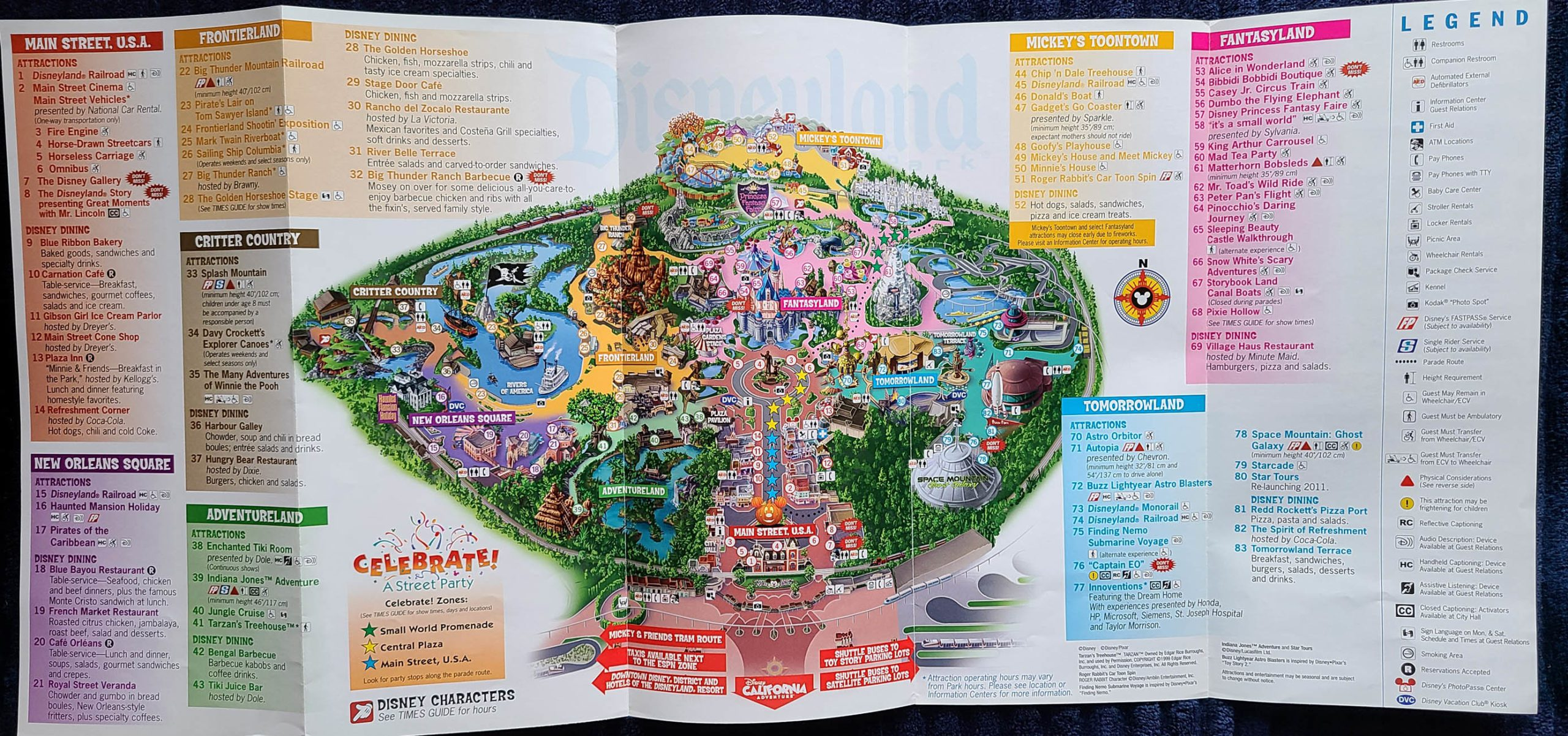 2010 Disneyland Halloween Time Map