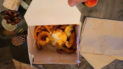 Triple Cheese and Bacon Curly Fries jack in the box